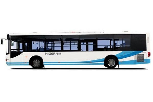 海格KLQ6129GAHEVE5BZ公交车(柴油混合动力国五24-46座)