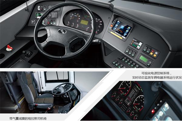 金龙龙威2代车型驾驶室细节图