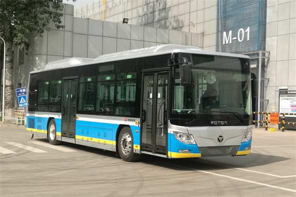 福田欧辉BJ6123SHEVCA-5插电式公交车(天然气/电混动国五21-42座)