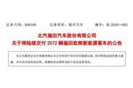 2020开门红!福田欧辉再夺北京公交集团2072辆新能源客车订单