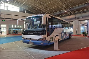 首都蓝天守护者——福田欧辉BJ6117纯电动客车亮相这一国际电动车盛会