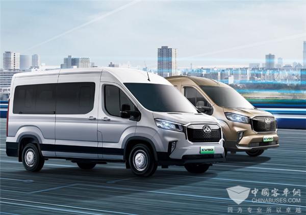 全系21.9万元起售! 上汽大通MAXUS EV90纯电轻客再推5款新车