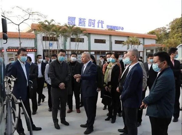 积极推进氢能示范应用 氢蓝时代获深圳市领导一行点赞