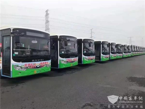 安凯G9新能源公交车驶入湛江 服务百姓绿色出行