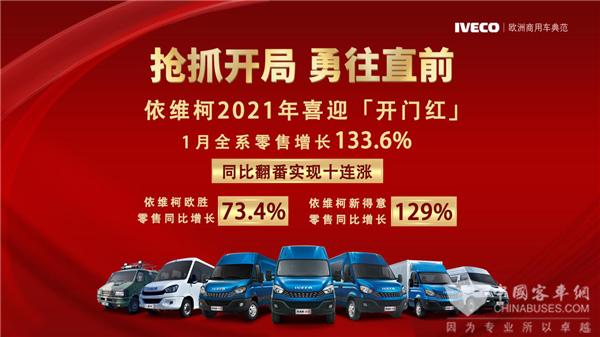 牛年开门红! 南京依维柯全系1月份零售同比大涨133.6%