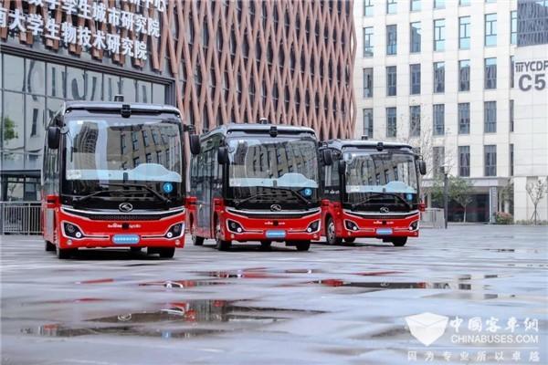 """自动驾驶""""robobus""""重庆投运 看金龙描绘的""""智慧交通""""场景"""