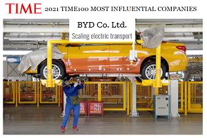 品牌影响力!比亚迪入选《时代周刊》年度最有影响力的100家企业