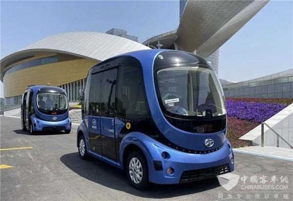 面向公众开放体验 首批苏州金龙5G无人驾驶巴士太湖畔试运行